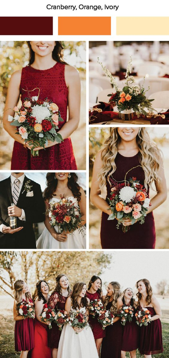10 Gorgeous November Wedding Color Palettes In 2018 Gray And Tango