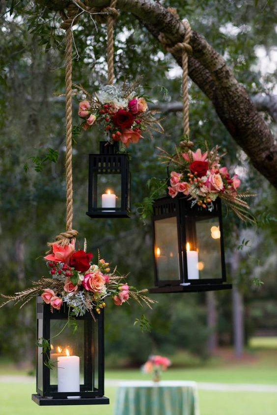 fall-wedding-lanterns
