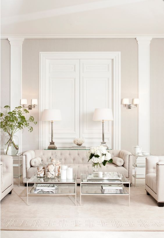 light colored living room decor
