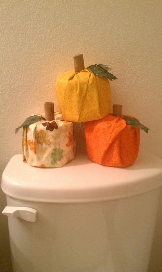 vegetable toilet roll covers cute fall decor idea