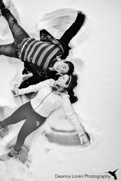 winter dates couple making snow angels