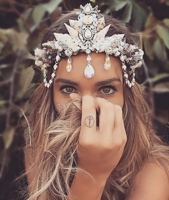 boho mermaid crown