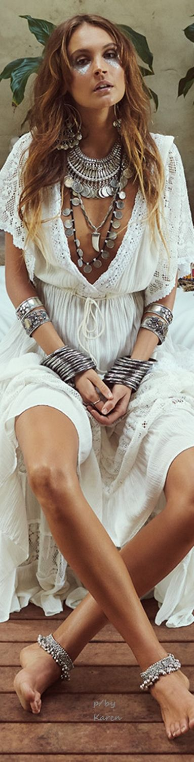 Boho accessories layered chunky silver coin necklaces