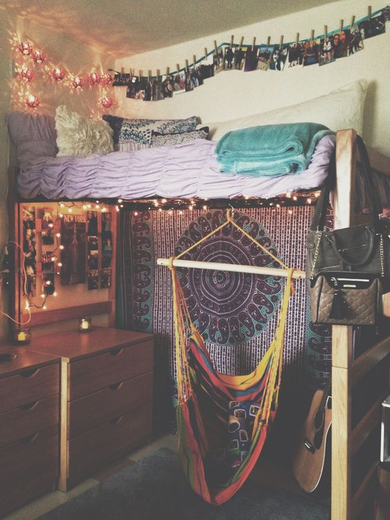 How To Hang Lights In Dorm Room