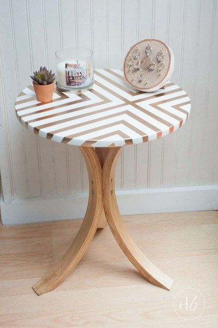 gold-chevron-table