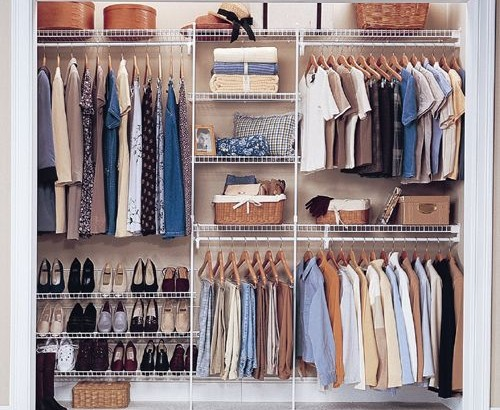 how to clear out organize your closet. Black Bedroom Furniture Sets. Home Design Ideas