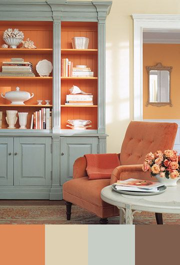 grey-and-orange-home-decor