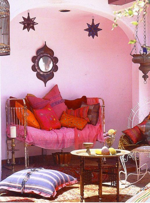 indian-style-orange-home-decor