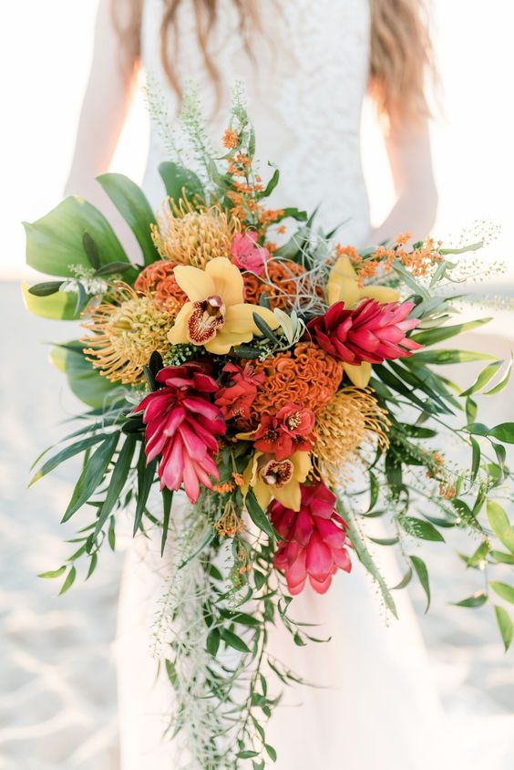 tropical-beach-wedding-floral-bouquet