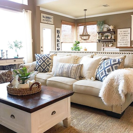 10 Modern Farmhouse Living Room Ideas: 10 Beautiful Rustic Farmhouse Decor Ideas