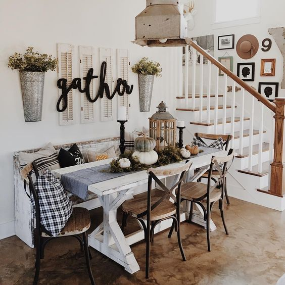 Tumblr White And Black Dining Room