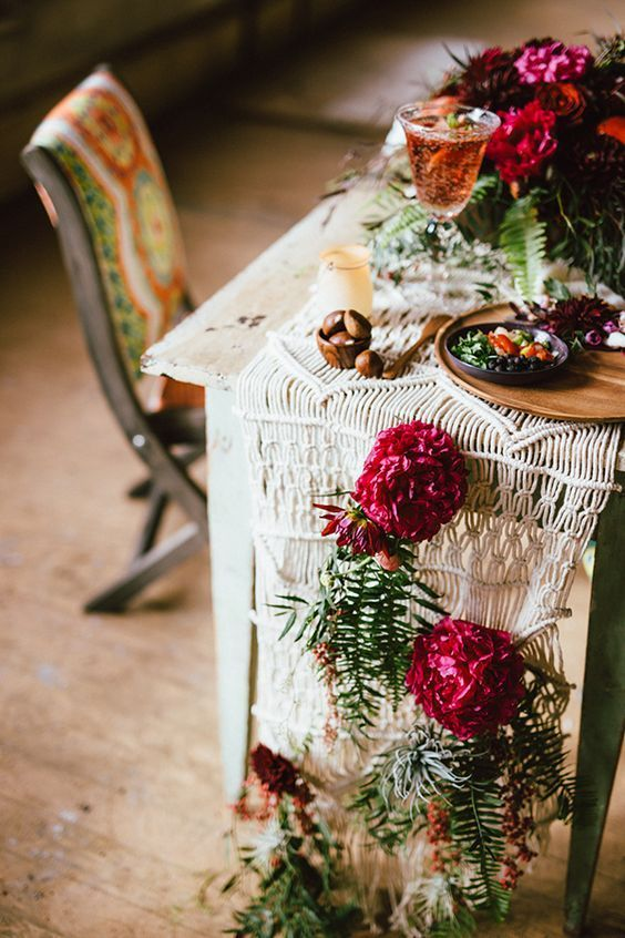 boho wedding table decorations wedding theme ideas to consider 2013
