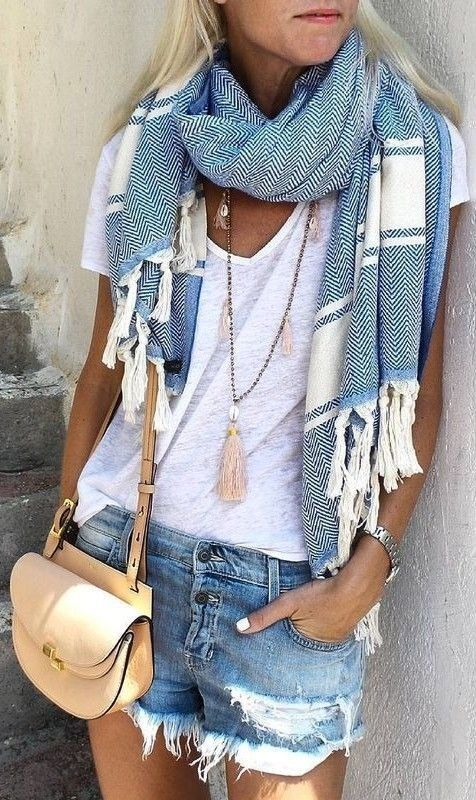 denim-shorts-statement-scarf