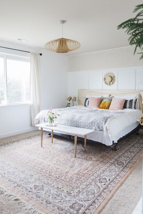 Minimalist Boho Bedrooms That Are Beyond Cute on Modern Boho Bed Frame  id=15100