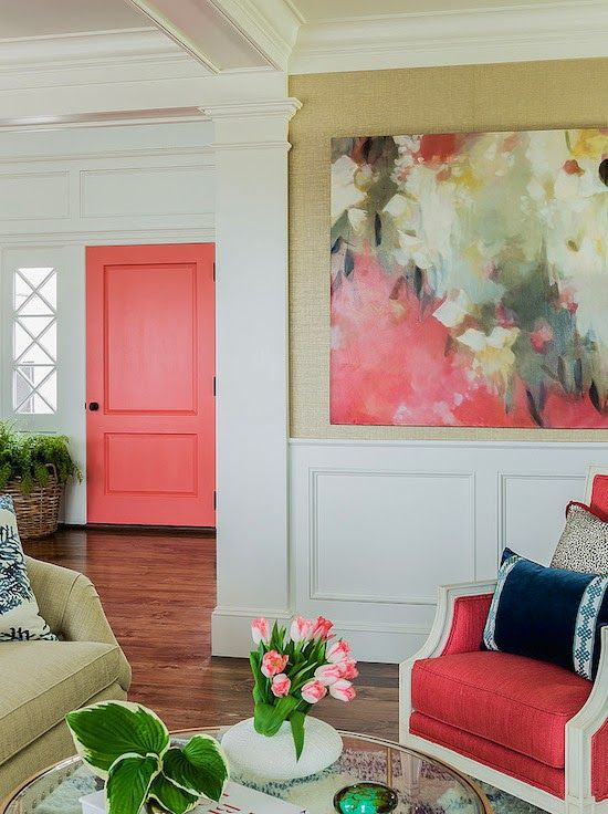 home-decor-with-coral-navy-color-pop