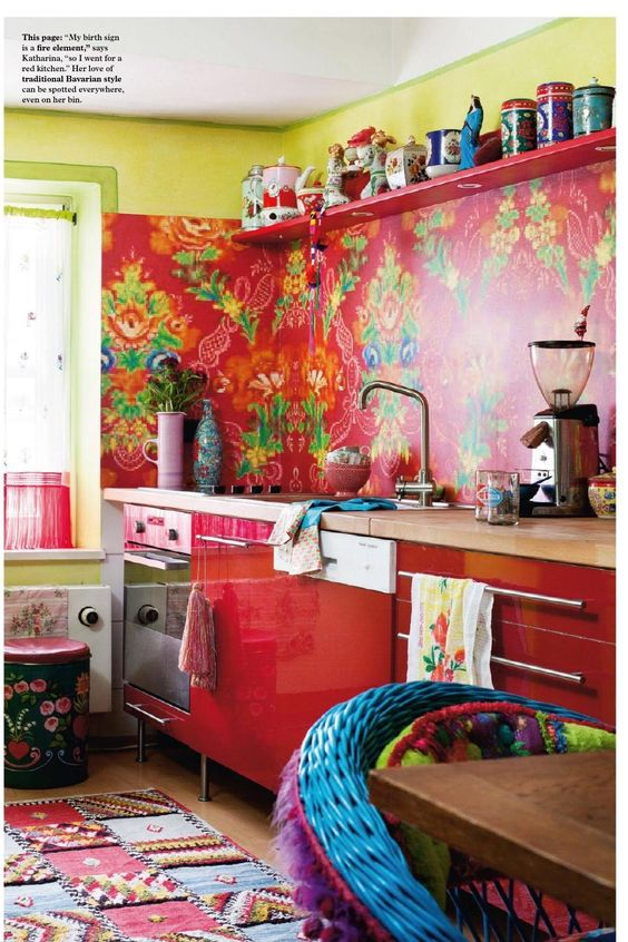 red-boho-decor