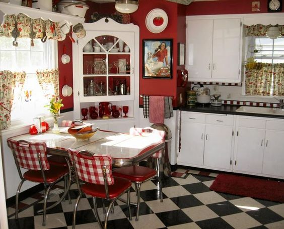 red-country-kitchen