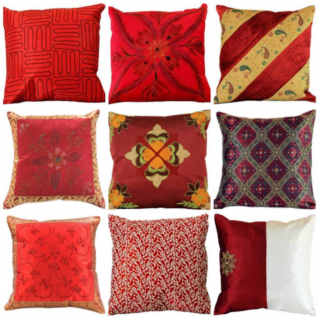 red-pillow-covers