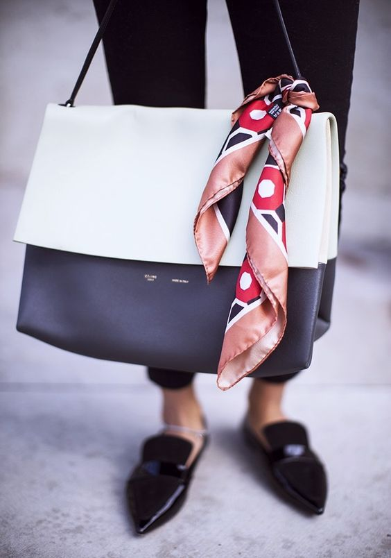 scarf-on-handbag