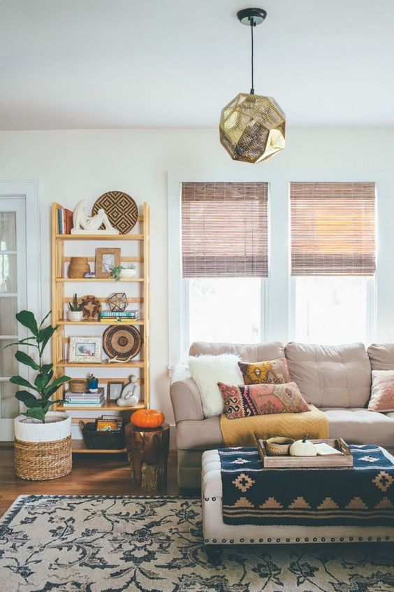boho-fall-living-room