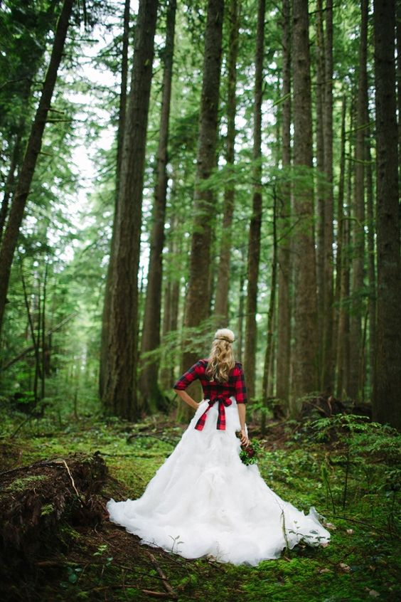 fall-wedding-dress-with-flannel-coverup