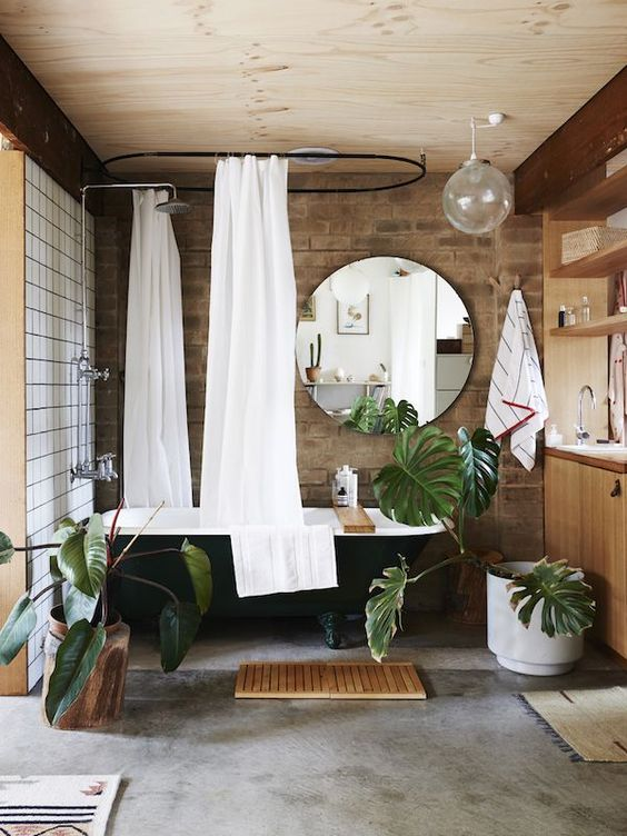 Tropical Bathroom Decor Black Bath