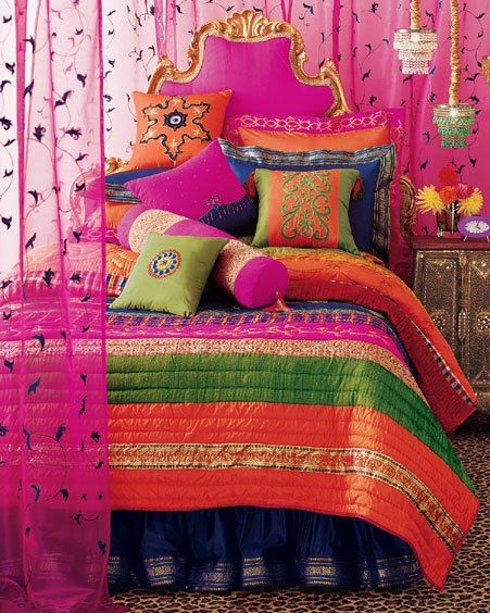hot-pink-indian-inspired-bedroom