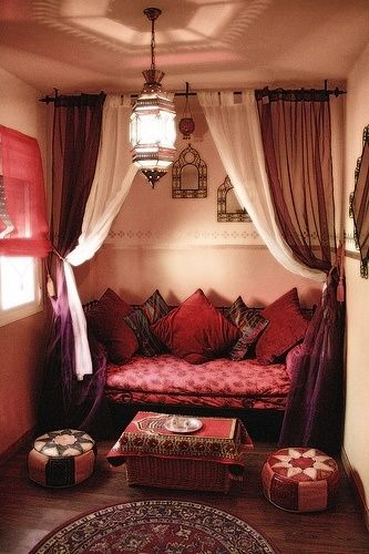 red-indian-inspired-reading-nook