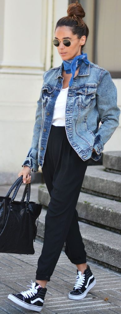 scarf-bandana-denim-jacket-autumn-look