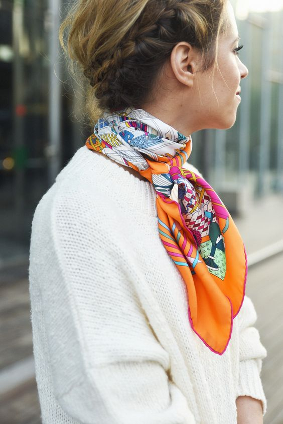 sweater-and-printed-scarf