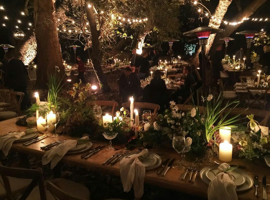 troian-bellisario-patrick-adams-fall-boho-table-setting