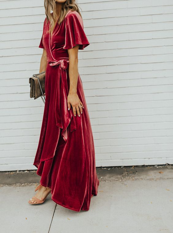 velvet-wrap-dress-fall-thanksgiving-outfit