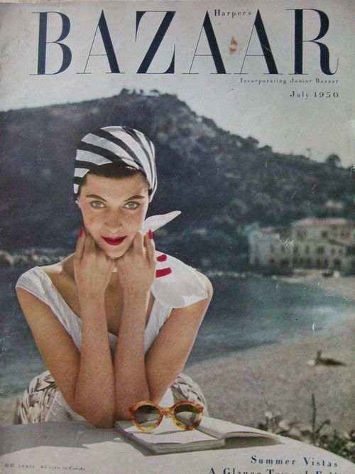 striped-scarf-harpers-bazaar-1950s