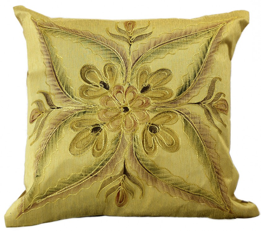"""Vibrant Floral Throw Pillow Covers 18"""" X 18"""" Set of 2"""