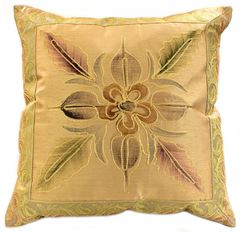 Hand Painted Deluxe Floral Accent Pillow Cover Set of 2