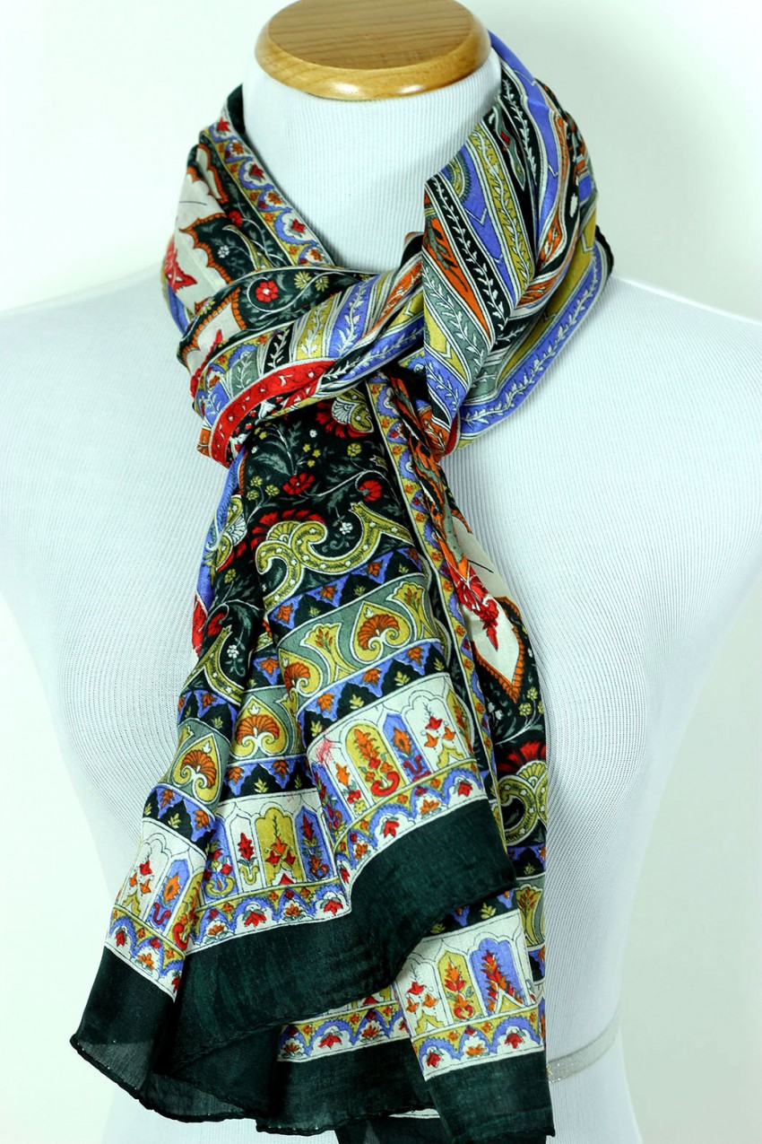 Side By Side For Sale >> Women's Exotic Silk Scarf| Banarsi Designs