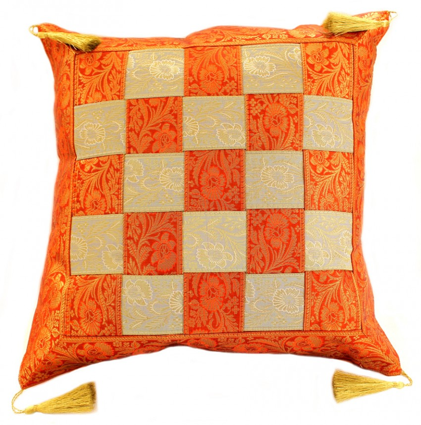 Game Of Chess Checkered Pillow Cover Set Of 2 Banarsi