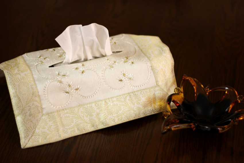Hand Embroidered Decorative Tissue Box Cover Banarsi Designs Inspiration Decorative Kleenex Box Covers