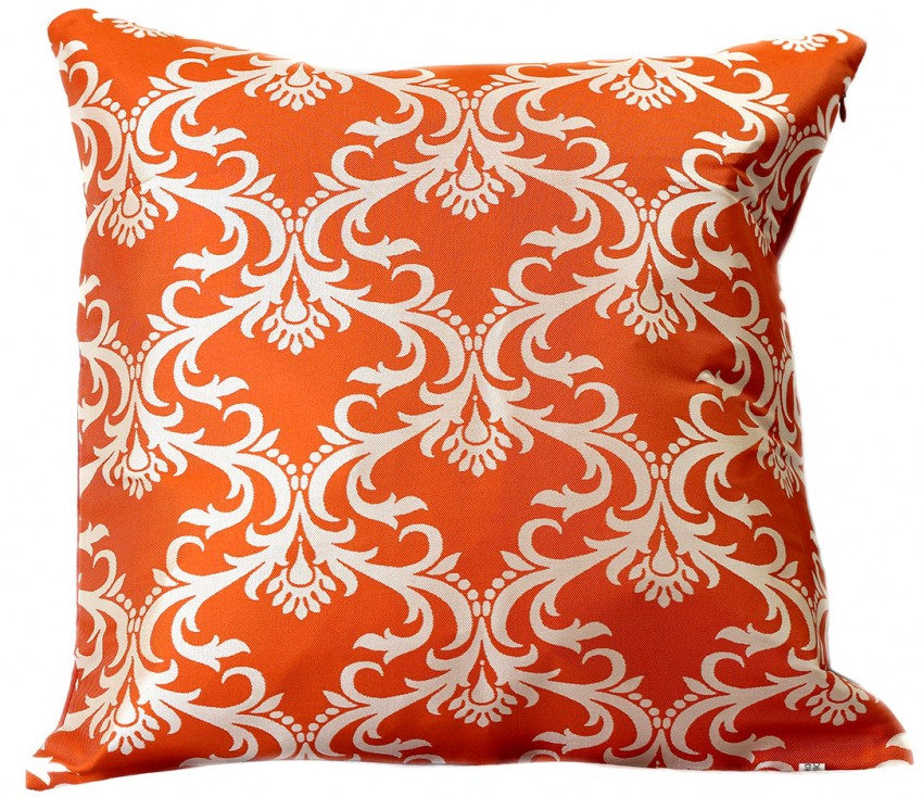 "Damask Throw Pillow Covers 18"" X 18"" Set of 2"