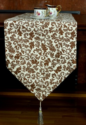 Jacquard Floral Table Runner