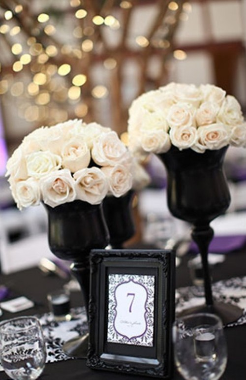 Table Decorations Black And White Theme Black Isn T Just For Halloween Use A Black And White Theme For Your